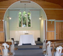 The historic Cardrona Church interior